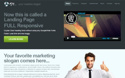 Azy - Responsive 1 Page Template